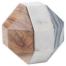 Buy west elm Marble and Wood Octahedron Decorative Object Online at johnlewis.com