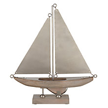 Buy John Lewis Coastal Wooden Boat on a Stand Online at johnlewis.com