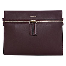 Buy Karen Millen Top Zip Clutch Bag, Burgundy Online at johnlewis.com