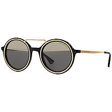 Buy Emporio Armani EA4062 Round Sunglasses Online at johnlewis.com