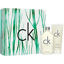Buy Calvin Klein CK One 50ml Eau de Toilette Gift Set Online at johnlewis.com