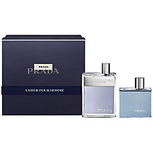 Buy Prada Amber Pour Homme 100ml Eau de Toilette Gift Set Online at johnlewis.com
