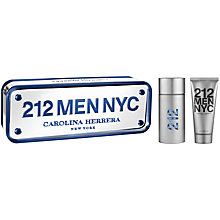 Buy Carolina Herrera 212 Men NYC 50ml Eau de Toilette Fragrance Gift Set Online at johnlewis.com