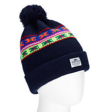 Buy Penfield Himal Beanie Bobble Hat, Navy Online at johnlewis.com