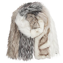 Buy Urbancode Vesta Patchwork Scarf, White Tones Online at johnlewis.com