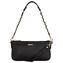 Buy DKNY Bryant Park Saffiano Small Leather Across Body Chain Bag, Black Online at johnlewis.com