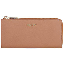 Buy DKNY Bryant Park Saffiano Leather Large Half Zip Purse Online at johnlewis.com