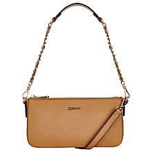 Buy DKNY Bryant Park Saffiano Leather Small Across Body Chain Bag, Camel Online at johnlewis.com
