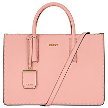 Buy DKNY Bryant Park Saffiano Leather Woven Edge East/West Shopper Bag, Rose Online at johnlewis.com