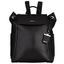 Buy DKNY Chelsea Vintage Leather Backpack, Black Online at johnlewis.com