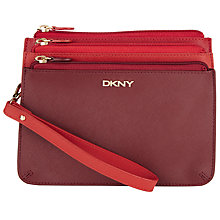 Buy DKNY Bryant Park Saffiano Leather Tri Pouch Purse, Multi Online at johnlewis.com