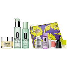 Buy Clinique Liquid Facial Soap - Mild, 200ml and Clarifying Lotion Mild, 200ml and Dramatically Different Moisturising Cream, 50ml with FREE Clinique Bonus Time Gift Online at johnlewis.com