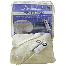 Buy Dreamland 16213 Electric Dual Double Fitted Underblanket, Natural Online at johnlewis.com