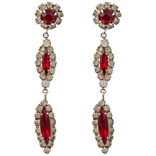 Buy Susan Caplan Vintage Bridal 1950s Silver Plating Ruby Crystal Earrings, Red Online at johnlewis.com