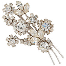 Buy Susan Caplan Vintage 1960s Austrian Crystal Flower Bouquet Brooch, Silver Online at johnlewis.com