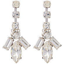 Buy Susan Caplan Vintage Bridal 1960s Crystal Drop Earrings, Crystal/Silver Online at johnlewis.com
