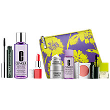 Buy Clinique Take The Day Off Makeup Remover For Lids, Lashes & Lips - All Skin Types, 125ml and Pop Lip Colour & Prime Lipstick, Poppy and High Impact Mascara, Black with FREE Clinique Bonus Time Gift Online at johnlewis.com