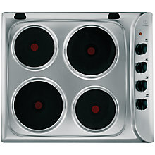 Buy Indesit PIM604IX Integrated Electric Hob, Stainless Steel Online at johnlewis.com
