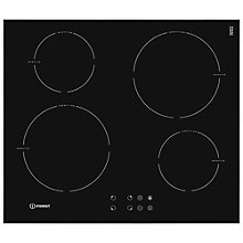 Buy Indesit VIB644CE Integrated Induction hob, Black Online at johnlewis.com