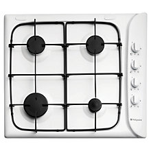 Buy Hotpoint G640SW Gas Hob, White Online at johnlewis.com