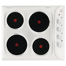 Buy Indesit PIM 604 Electric Sealed Plate Hob, White Online at johnlewis.com