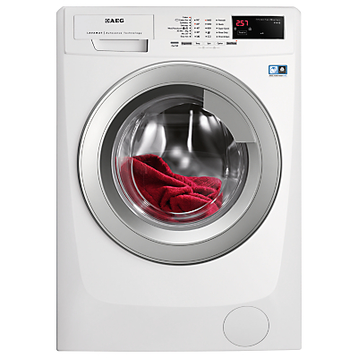 Image of AEG L69490VFL Freestanding Washing Machine, 9kg Load, A+++ Energy Rating, 1400rpm Spin, White