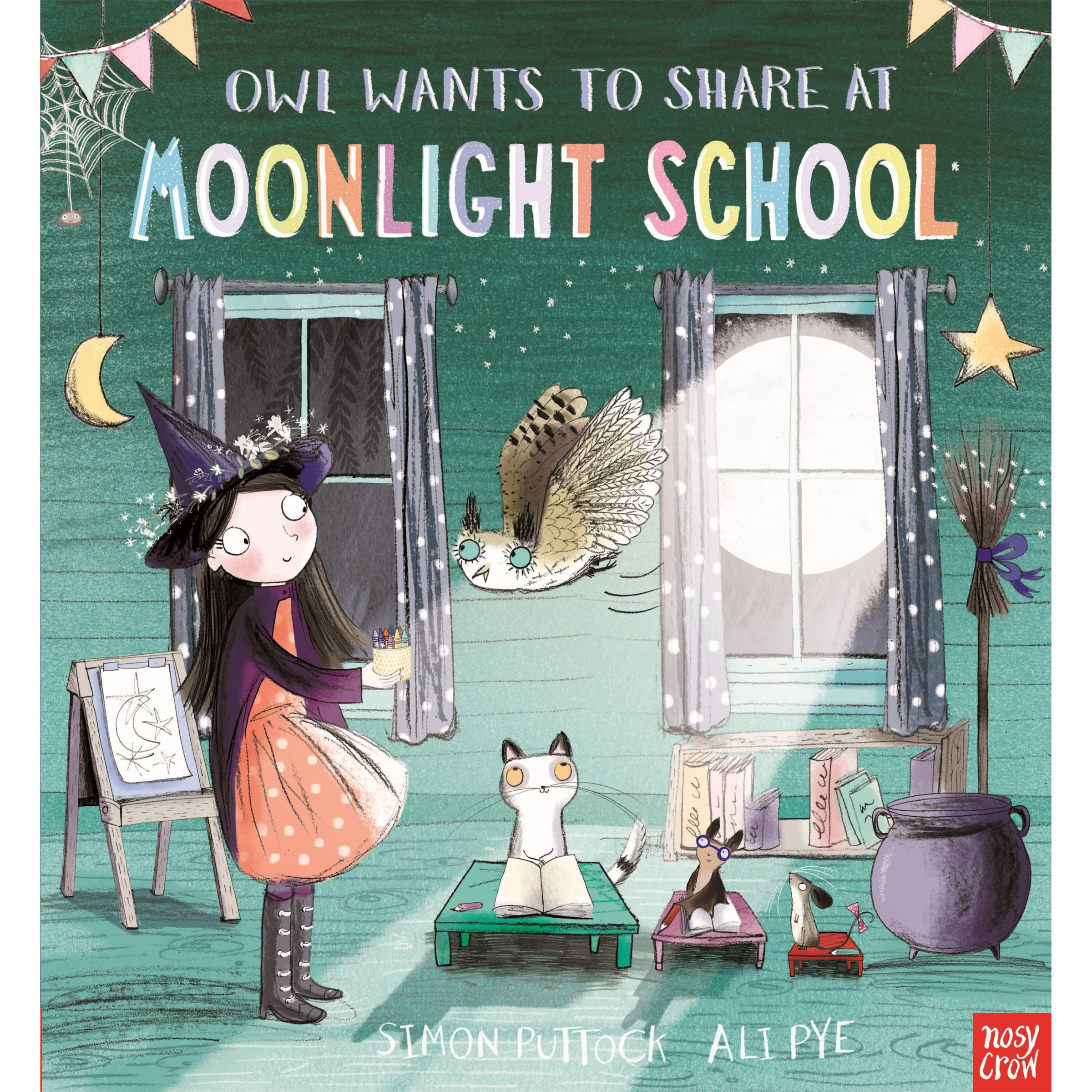 Nosy Crow Owl Wants To Share At Moonlight School Book