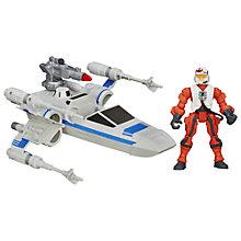 Buy Star Wars Episode VII: The Force Awakens X-Wing & Pilot Hero Mashers Online at johnlewis.com