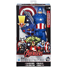Buy The Avengers Titan Hero Series Captain America Volt Glider Set Online at johnlewis.com