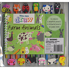 Buy You Can Draw Farm Animals Colouring Book And Pencil Set Online at johnlewis.com