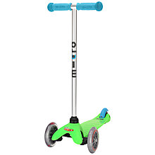 Buy Micro Scooters Mini Micro T-Bar Special Edition, Green/Blue Online at johnlewis.com