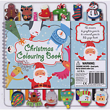 Buy Christmas Colouring Book And Pencil Set Online at johnlewis.com