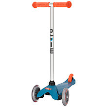 Buy Micro Scooters Mini Micro T-Bar Special Edition, Aqua/Orange Online at johnlewis.com