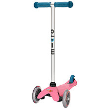 Buy Micro Scooters Mini Micro T-Bar Special Edition, Pink/Aqua Online at johnlewis.com