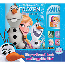 Buy Disney Frozen Play A Sound Book And Olaf Soft Toy Online at johnlewis.com