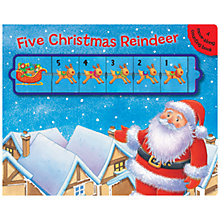 Buy Five Christmas Reindeer: A Move-Along Counting Book Online at johnlewis.com