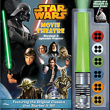 Buy Star Wars Movie Theatre Storybook & Lightsaber Projector Book Online at johnlewis.com