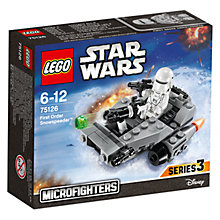 Buy LEGO Star Wars 75126 First Order Snowspeeder Microfighter Online at johnlewis.com