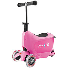 Buy Micro Scooters Mini To Go, Pink Online at johnlewis.com