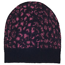 Buy French Connection Electric Leopard Beanie Hat, Ziggy Pink Multi Online at johnlewis.com