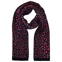 Buy French Connection Electric Leopard Print Scarf, Ziggy Pink/Black Online at johnlewis.com