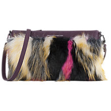Buy French Connection Georgina Faux Fur Pouch Online at johnlewis.com