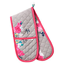 Buy Joules Double Oven Glove, Grey Floral Online at johnlewis.com
