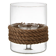 Buy John Lewis Coastal Rope Tealight Holder, Small Online at johnlewis.com