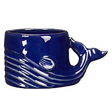 Buy John Lewis Coastal Whale Candle Holder, Blue Online at johnlewis.com