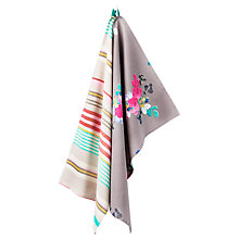 Buy Joules Grey Floral Tea Towels, Set of 2 Online at johnlewis.com