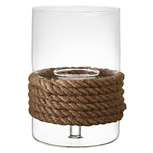 Buy John Lewis Coastal Rope Tealight Holder, Medium Online at johnlewis.com