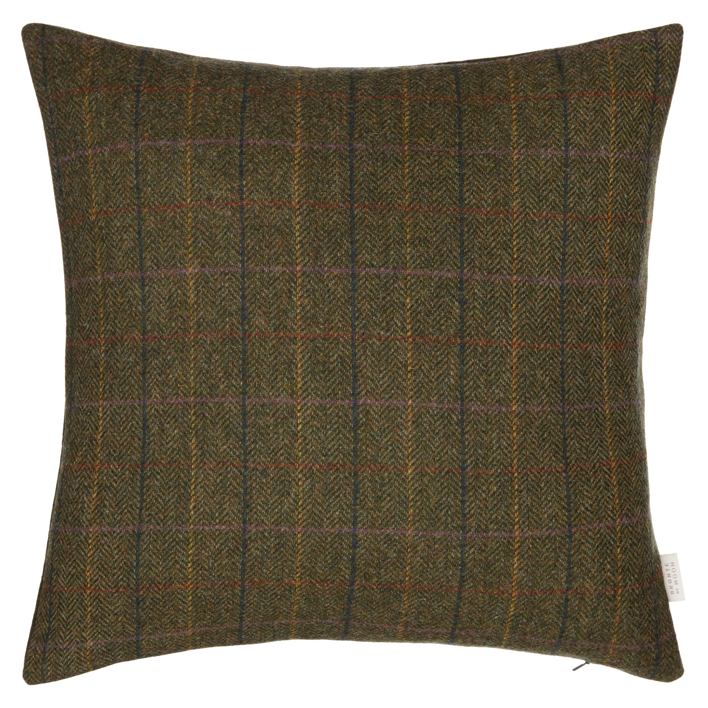 Bronte by Moon Bronte by Moon Herringbone Cushion, Green