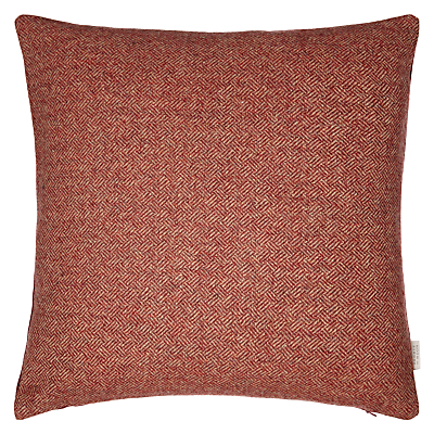 Image of Bronte by Moon Parquet Weave Cushion, Red