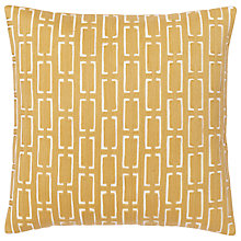 Buy west elm Crewel Bracket Geo Cushion Online at johnlewis.com